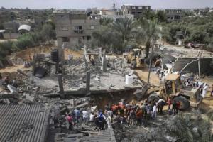 Kota Gaza yang Porak Poranda Karena Agresi Israel Juli-Agustus 2014